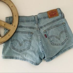 LEVI'S Retro style blue jean shorts